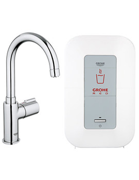 Related Grohe Red Chrome Mono Pillar Tap And 4 Liters Single Boiler - 30060000