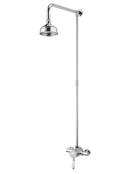Colonial Thermostatic Shower Valve With Rigid Riser Kit