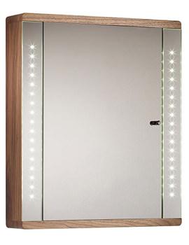 Related Sensory Instinct Single Mirror Glass Door LED Cabinet Walnut - SN590AW