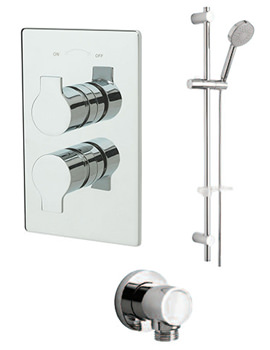 Angle Concealed Shower Valve With Kit And Outlet - 22191B