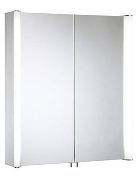 Idea 610mm Double Mirror Doors Aluminium Cabinet - ID60AL