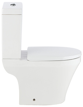 Mellow Open Back Close Coupled WC Pan With Cistern And Seat 610mm