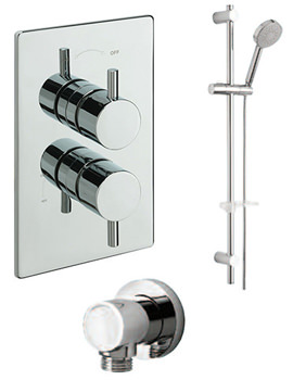 Poppy Concealed Valve With Slide Rail Kit And Wall Outlet