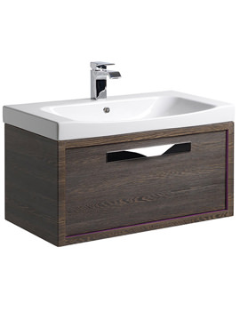Breathe 800mm Wall Mounted Unit Mali-Plum And Basin