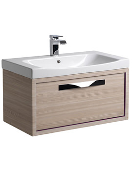 Breathe 800mm Wall Mounted Unit Pale Driftwood And Basin