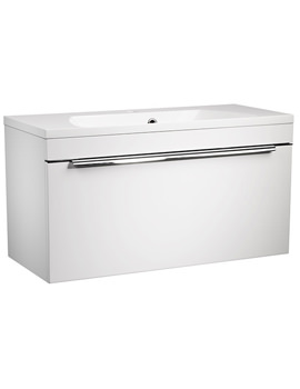 Cypher 800mm White Wall Mounted Unit With Basin