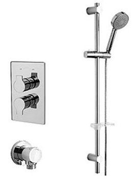 Ora Thermostatic Valve With Slide Rail Kit And Wall Outlet