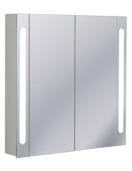 Aluminium 800 x 800mm Double Door Mirrored Cabinet