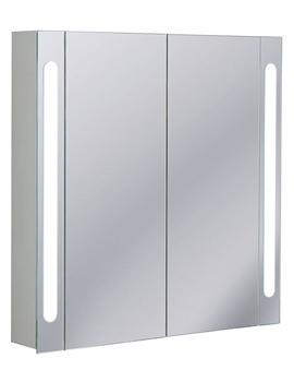 Aluminium 800 x 800mm Double Door Mirrored Cabinet