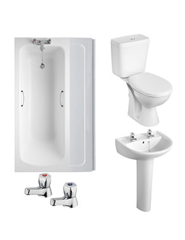 Armitage Shanks Sandringham 21 2TH White Bathroom To Go Pack