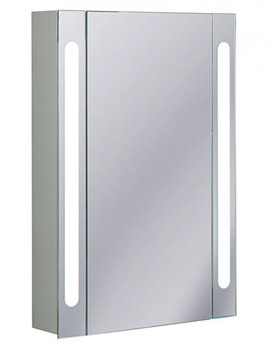 Aluminium 550 x 800mm Single Door Mirrored Cabinet