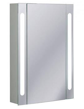 Aluminium 550 x 800mm Single Door Mirrored Cabinet