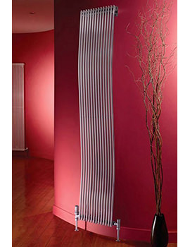 Rimini White Wave Tube-on-Tube Vertical Radiator 400 x 1800mm