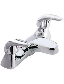 Aquations Low Flow 2 Hole Deck Mounted Bath Filler Tap