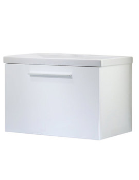 Envy 700mm White Wall Mounted Unit Including Basin
