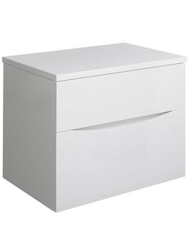 Related Bauhaus Glide II 700 x 455mm Basin Unit And Worktop White Gloss