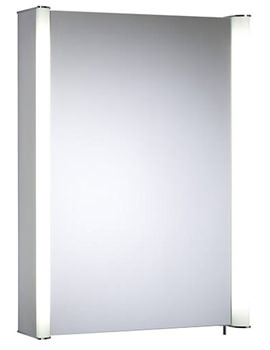 Idea 507mm Single Mirror Door Aluminium Cabinet - ID50AL