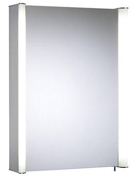 Idea 507mm Single Mirror Door Aluminium Cabinet - ID50AL
