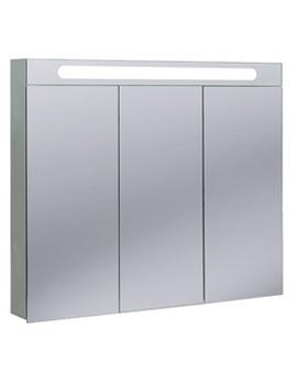 Aluminium Electric 900 x 800mm 3 Doors Mirrored Cabinet