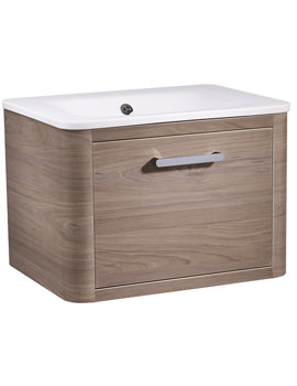 Roper Rhodes Moment 600mm Dark Elm Wall Mounted Unit With Basin