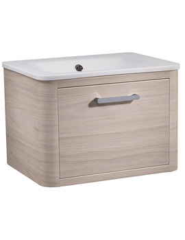 Related Roper Rhodes Moment 600mm Light Elm Wall Mounted Unit With Basin