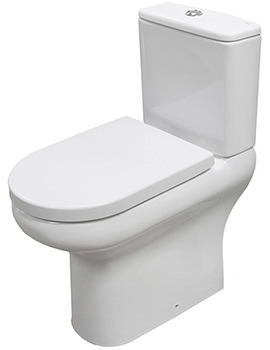 Compact Deluxe Rimless Full Access Open Back Close Coupled WC Pack 625mm