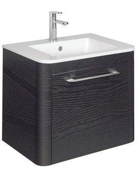 Celeste 600mm Black Ash Single Drawer Basin Unit - CL6000DBA