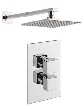 Edge Concealed Shower Valve With Over Head Arm And Rose