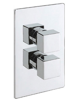 Geysir Concealed Shower Valve With Over Head Arm And Rose