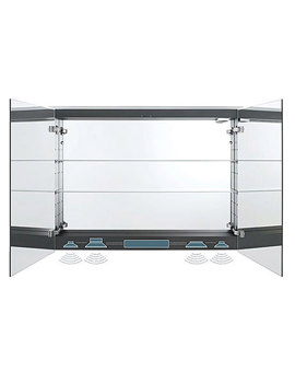 Related Duravit Happy D2 800mm Mirror Cabinet With Sound System - H2769402222