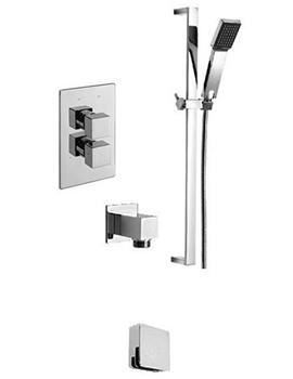 Edge 2 Way Diverter Valve With Sliding Rail And Wall Outlet