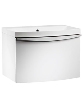 Serif 600mm Wall Mounted Unit With Isocast Basin White