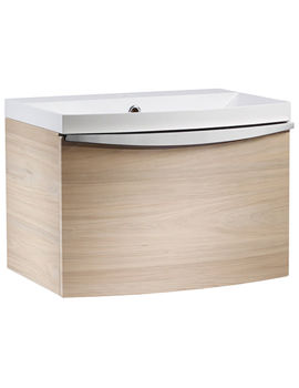 Serif Light Elm 600mm Wall Mounted Unit With Isocast Basin