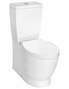 VitrA Sunrise Close Coupled Fully BTW WC With Cistern-Toilet Seat