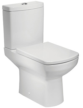 Vibe Open Back Close Coupled WC Pan With Cistern And Seat