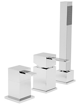 Deck Mounted 3 Hole Single Lever Bath Shower Mixer Tap - TE-132-NS