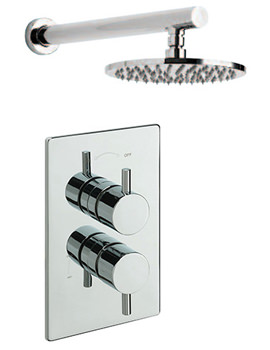 Poppy Concealed Shower Valve With Overhead Arm And Rose