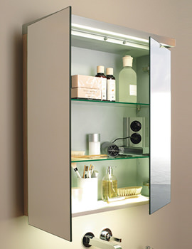 Related Duravit Fogo Mirror Cabinet 800mm With Glass Underfloor - FO 9675