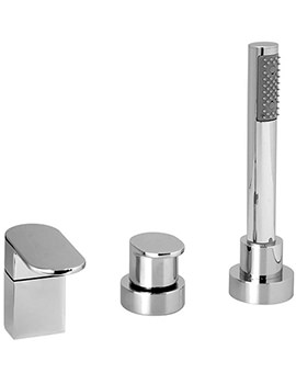 Life 3 Hole Deck Mounted Bath Shower Mixer Tap - LIF-132-NS