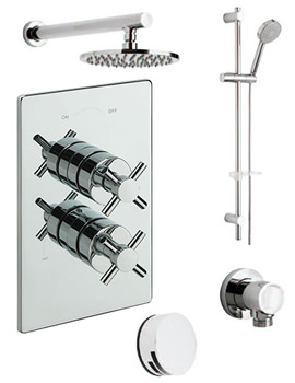 Tre Mercati Erin Concealed 3 Way Diverter Valve And Shower Set-82093A