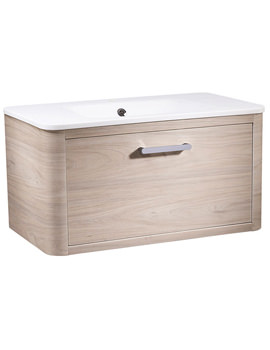 Roper Rhodes Moment Light Elm 800mm Wall Mounted Unit With Basin