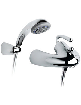 Silver Shadow Wall Mounted Bath Shower Mixer Tap - 5A0140C00