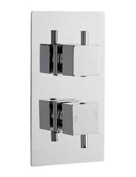 Pioneer Square Twin Thermostatic Shower Valve - ABS Trimset