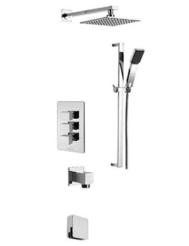 Edge Concealed 3 Way Diverter Shower Valve And Shower Set