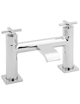 Crux Deck Mounted Bath Filler Tap Chrome - CRUX108
