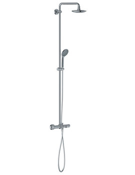 Euphoria Thermostatic Bath Shower System Chrome - 27475000