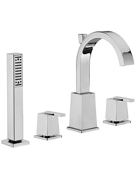 Mr Darcy 4 Hole Bath Shower Mixer Tap With Shower Kit