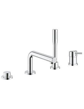 Concetto 4 Hole Single Lever Bath Combination Set Chrome-19576001