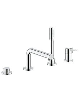 Concetto 4 Hole Single Lever Bath Combination Set Chrome-19576001