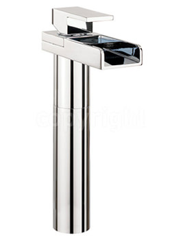Water Square Tall Monobloc Basin Mixer Tap - WS112DNC